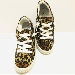 Animal Print Flat Slip-On Sneakers